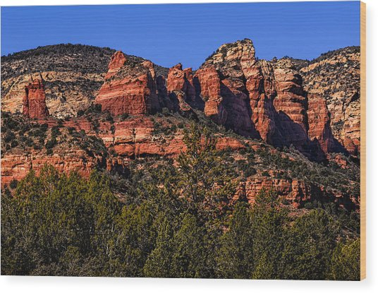 Red Rock Sentinels Wood Print