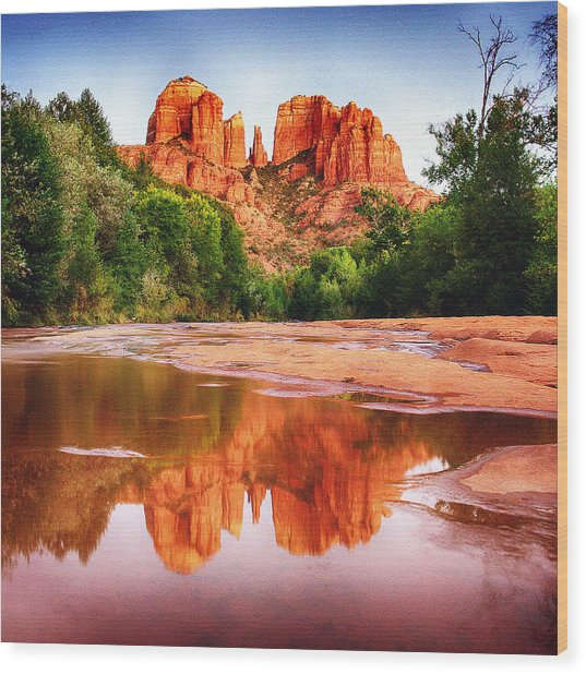 Red Rock State Park - Cathedral Rock Wood Print