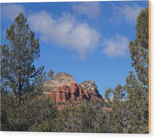 Red Rock Vista Wood Print