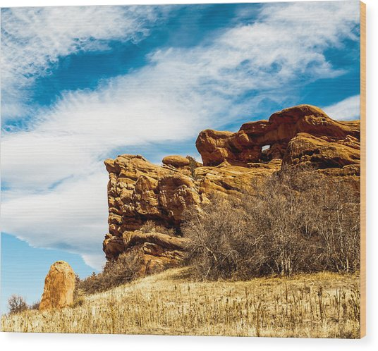 Red Rocks Dragon Wood Print