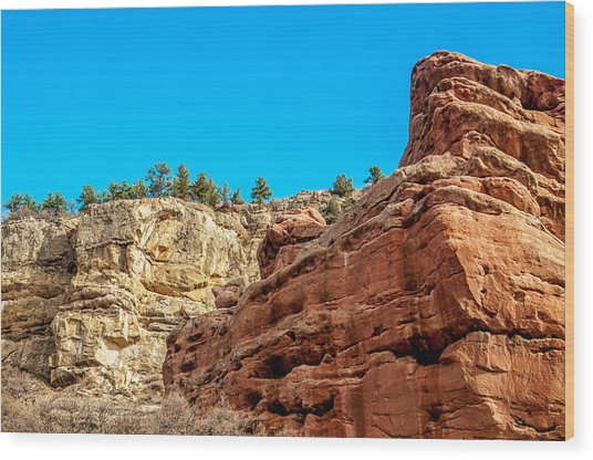 Red Rocks View 002 Wood Print