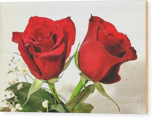 Red Roses 4 Wood Print