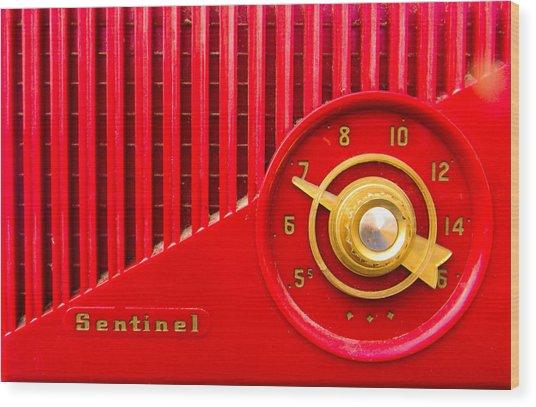 Red Sentinel Wood Print