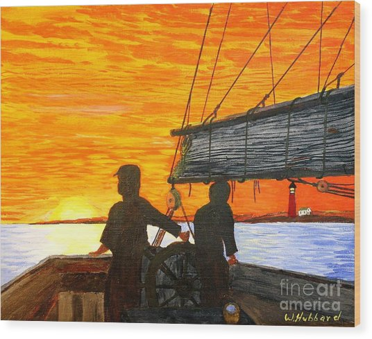 Red Sky At Night A Sailor's Delight Wood Print