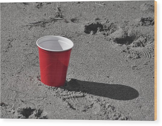 Red Solo Cup Wood Print