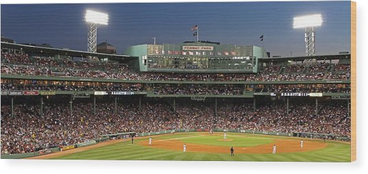 Red Sox And Fenway Park  Wood Print