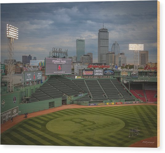 Red Sox Strong Wood Print