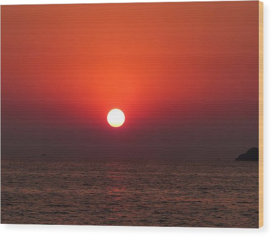 Playa La Ropa Sunset Wood Print