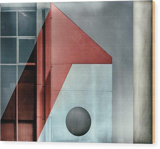 Red Transparency. Wood Print by Harry Verschelden