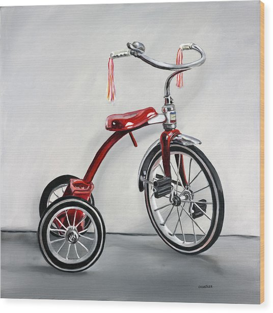 Red Tricycle 1 Wood Print