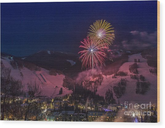 Red Vail Wood Print