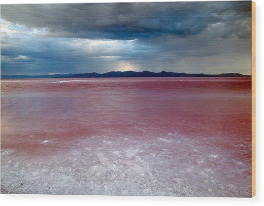 Red Water Wood Print by Darryl Wilkinson