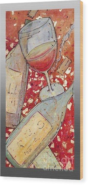 Red Wine I Wood Print