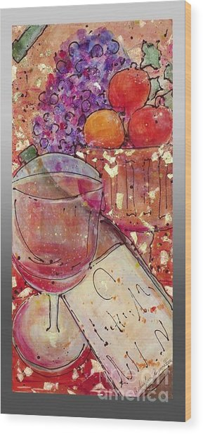 Red Wine II Wood Print