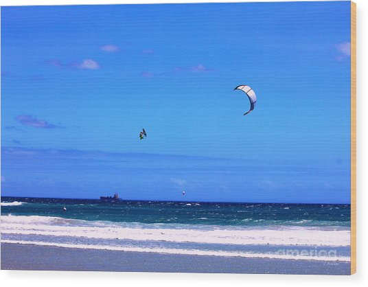 Redbull King Of The Air Cape Town South Africa Wood Print by Charl Bruwer