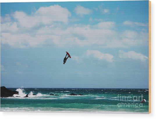 Redbull King Of The Air Competition Cape Town South Africa Wood Print by Charl Bruwer
