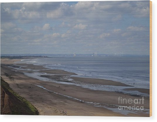 Redcar From A Distance Wood Print