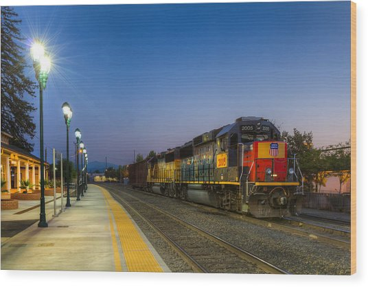 Redding Depot Wood Print
