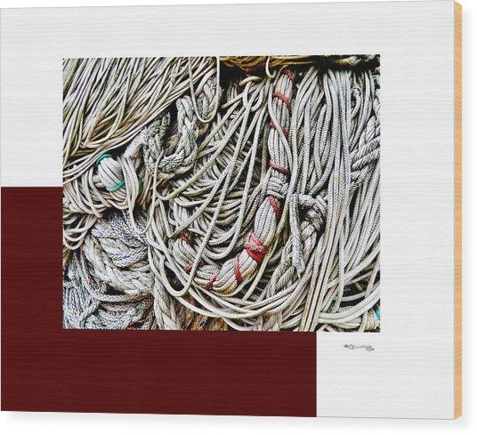 Redes 4 Wood Print by Xoanxo Cespon
