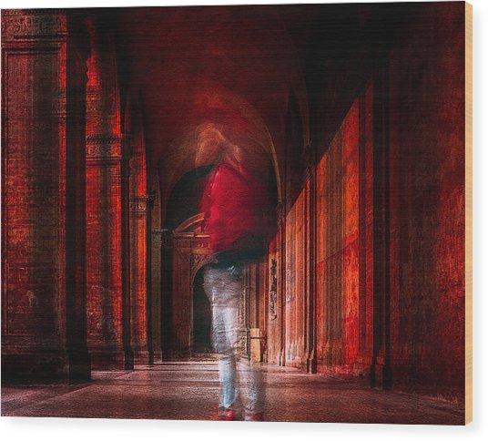 Redfluid Wood Print by Carmine Chiriac??
