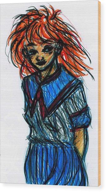 Redhead II Wood Print