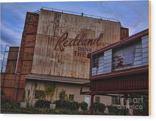 Redland Drive In Theatre Wood Print