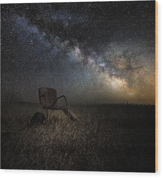 Redneck Planetarium Wood Print