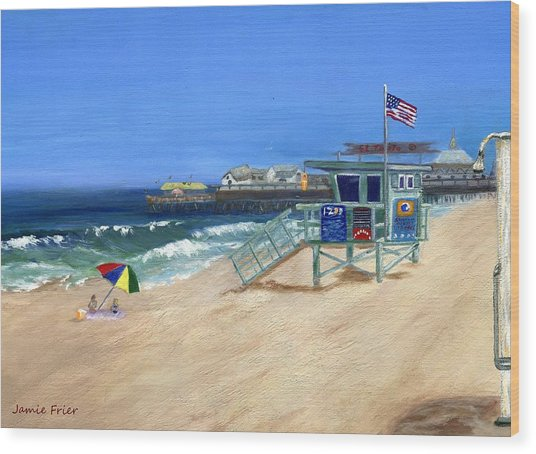 Redondo Beach Lifeguard  Wood Print