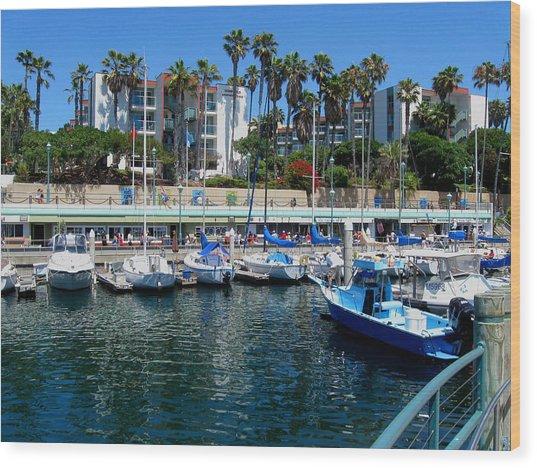 Redondo Beach Marina Wood Print