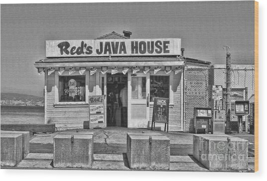 Red's Java House San Francisco By Diana Sainz Wood Print