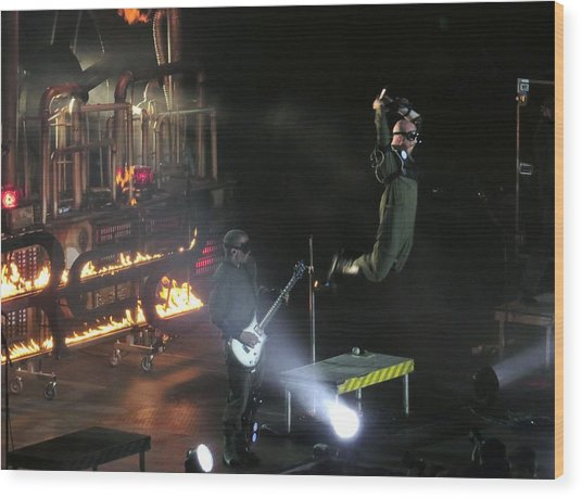 Red's Lead Singer Can Fly Wood Print