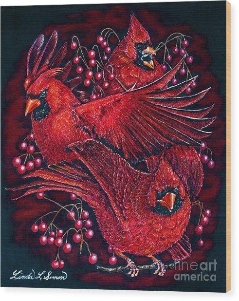 Reds Wood Print