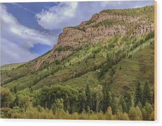 Redstone Cliffs At Redstone Colorado Wood Print