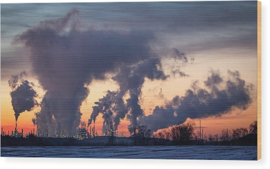 Flint Hills Resources Pine Bend Refinery Wood Print