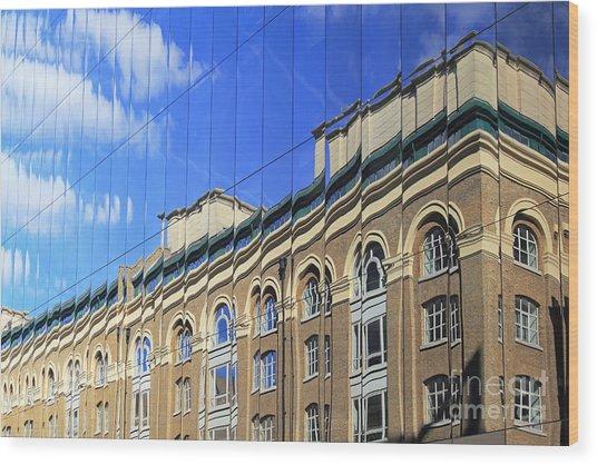 Reflected Building London Wood Print