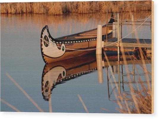 Reflected Wood Print