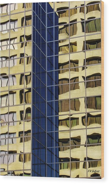 Reflecting Architecture  Wood Print