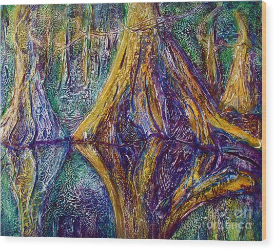 Reflecting On The St. Johns River Wood Print