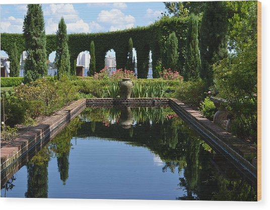 Reflecting Pond Wood Print by Victoria Clark