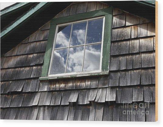 Reflecting Sky Wood Print