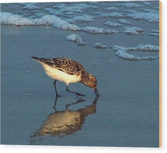 Reflection At Sunset Wood Print