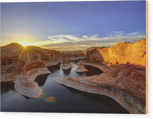Reflection Canyon Sunrise Wood Print