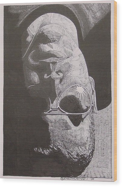 Reflection Wood Print by Denis Gloudeman