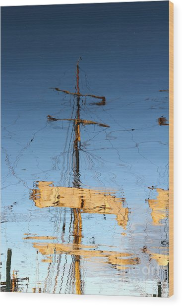 Reflection Of A Golden Age Wood Print by Butch Lombardi