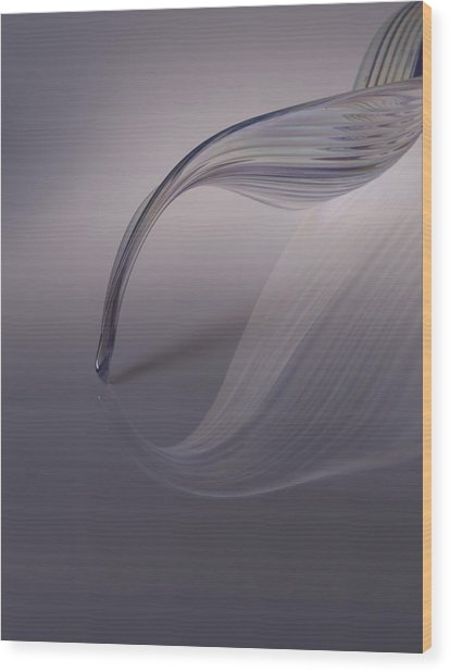 Reflection Of A Piece Of Blown Glass Wood Print by James Tarver