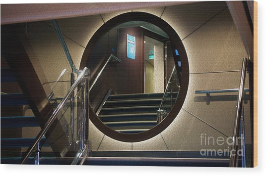 Reflection Stair Wood Print