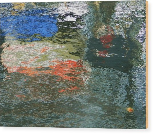 Reflections And Jellyfish In Ketchikan Wood Print
