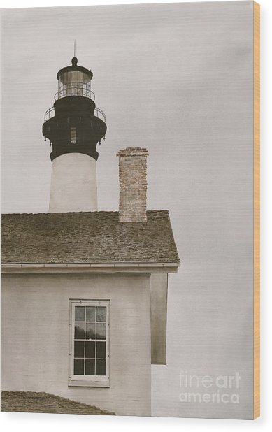 Reflections At Bodie Light Wood Print