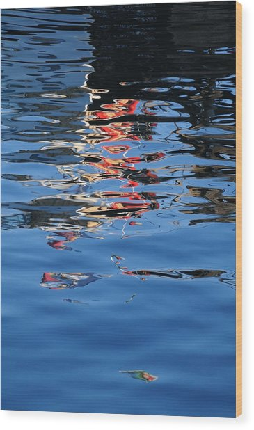Reflections In Red Wood Print