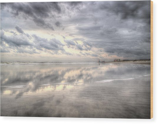 Reflections Of Amelia Island Wood Print